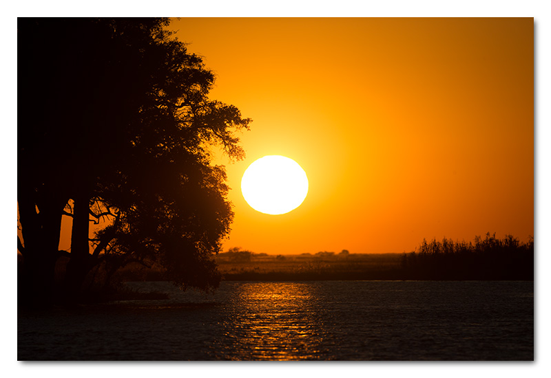 sunset chobe river