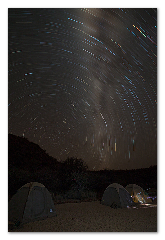 Peter Dawson Photography - Milky way star trail time lapse namibia
