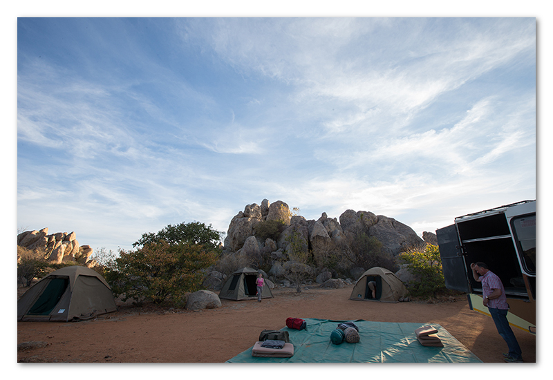 Peter Dawson Photography - granite boulder campsite namibia