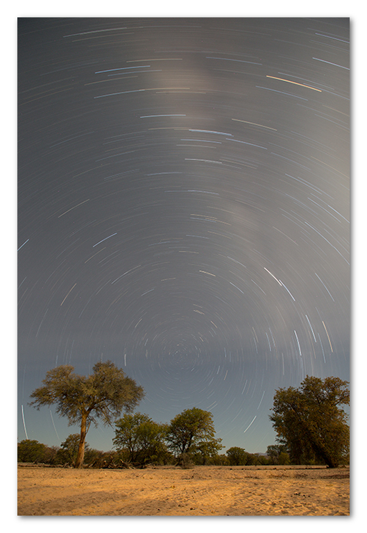 Peter Dawson Photography - namibian star trail long exposure